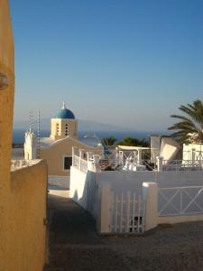 Santorini Häuser