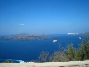 Aussicht Santorini Tag