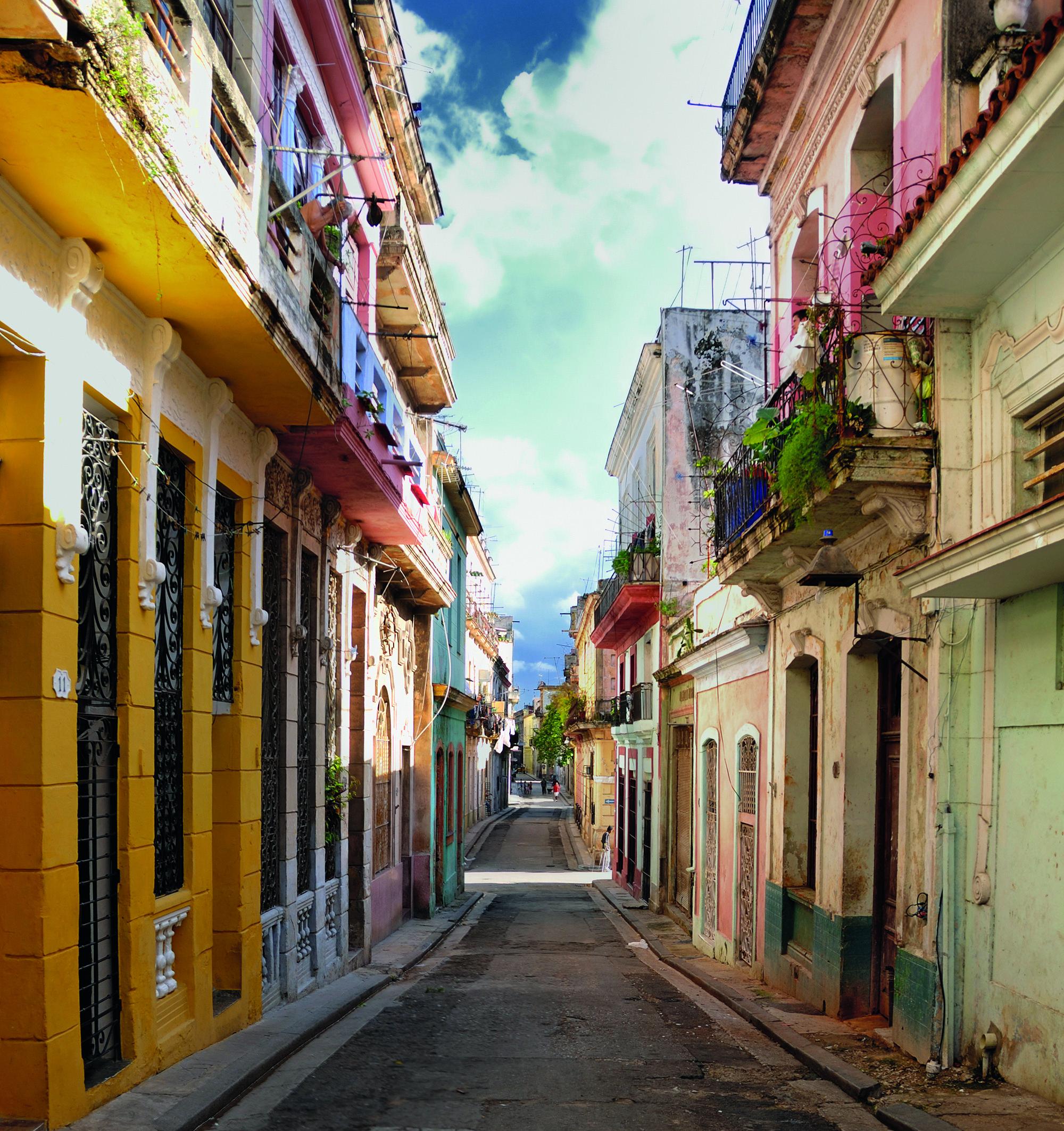 Farbenfrohe Häuser in Havanna