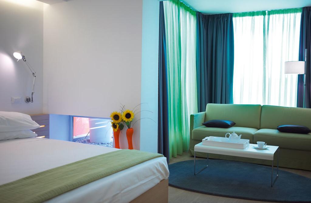 Sehr stylisch – ein Zimmer im Hotel Fresh