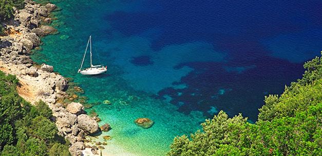Wundervolle Bucht bei Kefalonia