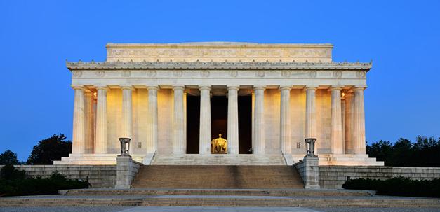 Das Lincoln Memorial, fast wie ein griechischer Tempel