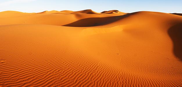 Die Saharawüste in Marokko