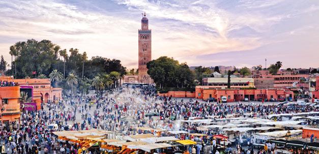 Der berühmte Djemaa el Fna Platz