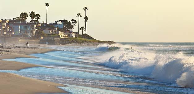 Ein wunderschöner Strand in San Diego