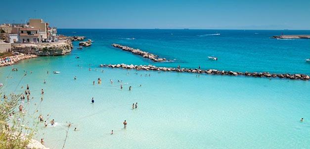 Von Otranto ein wunderschöner Blick aufs Meer