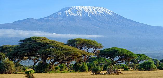 Der Kilimandscharo, der höchste Berg Afrikas
