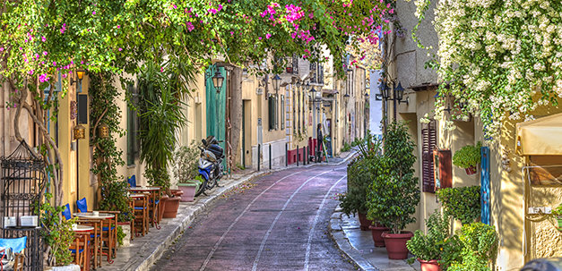 Gasse in der Altstadt Athens