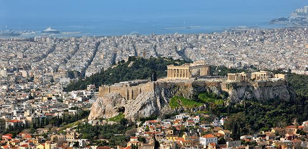 Sicht vom Lycabettus Berg auf Athen