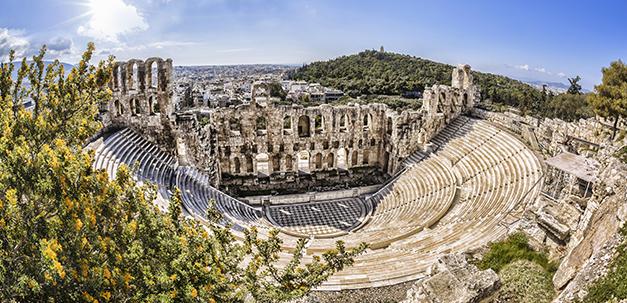 Das berühmte Odeon Theater in Athen