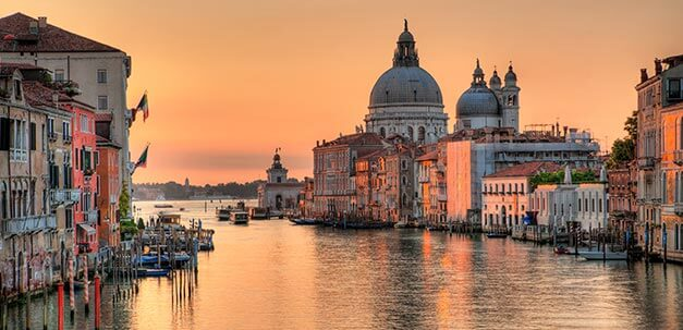 Wundervolle Abendstimmund am Canale Grande