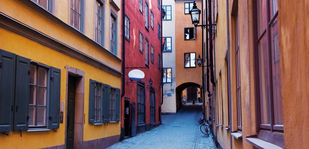 Enge Gassen in der Altstadt Stockholms