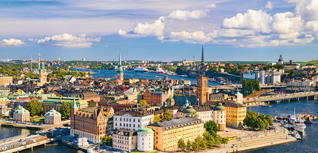 Blick auf Stokholm