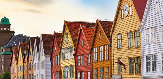 Die idyllischen Stadt Bergen