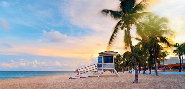 Die schönen Strände in Fort Lauderdale