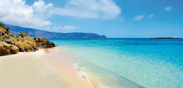 Ein schöner Strand auf Kreta