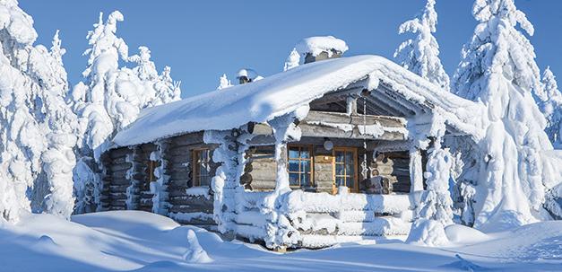 Romantische Blockhütte