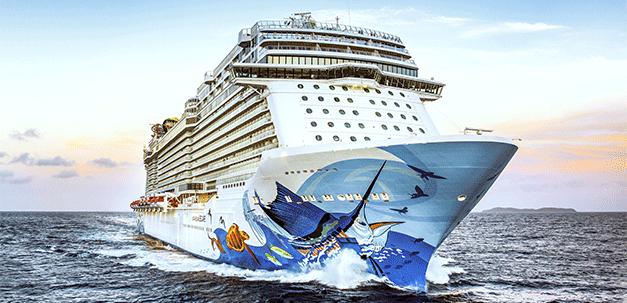 Ein Kreuzfahrtenschiff der Norwegian Cruise Line